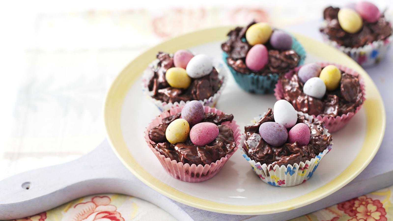 chocolate egg nests